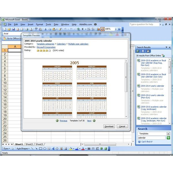How To Create A Calendar In Microsoft Excel Computer Hardware