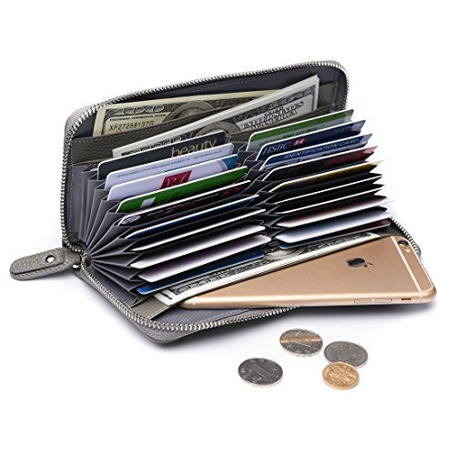 Ladies Super Leather Purse with Zipped Coin Section RFID Blocking Wallets