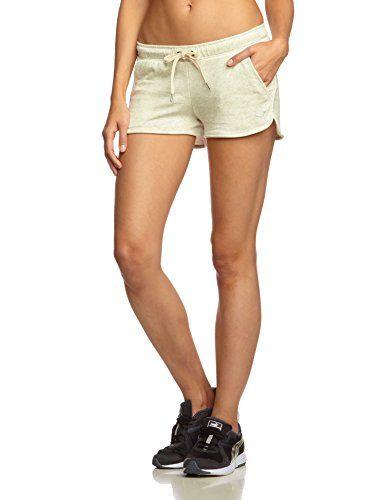 9ee00859e Puma Pantalon de Sport pour Femme Style Terry Short w M Blanc - Écru/Gris
