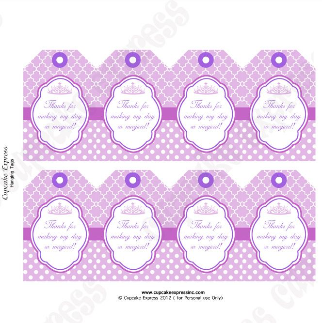 picture about Free Printable Thank You Tags for Favors titled Your self\\ll attain the Crimson PRINCESS Striking Thank By yourself Tags