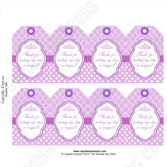 Pink Princess printable gift bag tags #pinkprincess | Princess ...