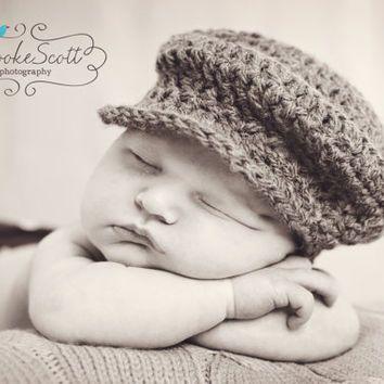Newborn Baby Boys Driver Hat Flat Cap from rachealsbabyboutique ... 0ed7e42496e