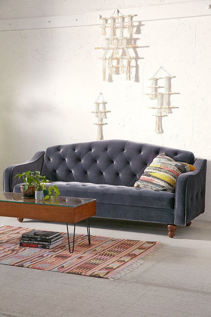 Ava Velvet Tufted Sleeper Sofa Dorm Living Room Quality Living Room Furniture Sectional Sleeper Sofa