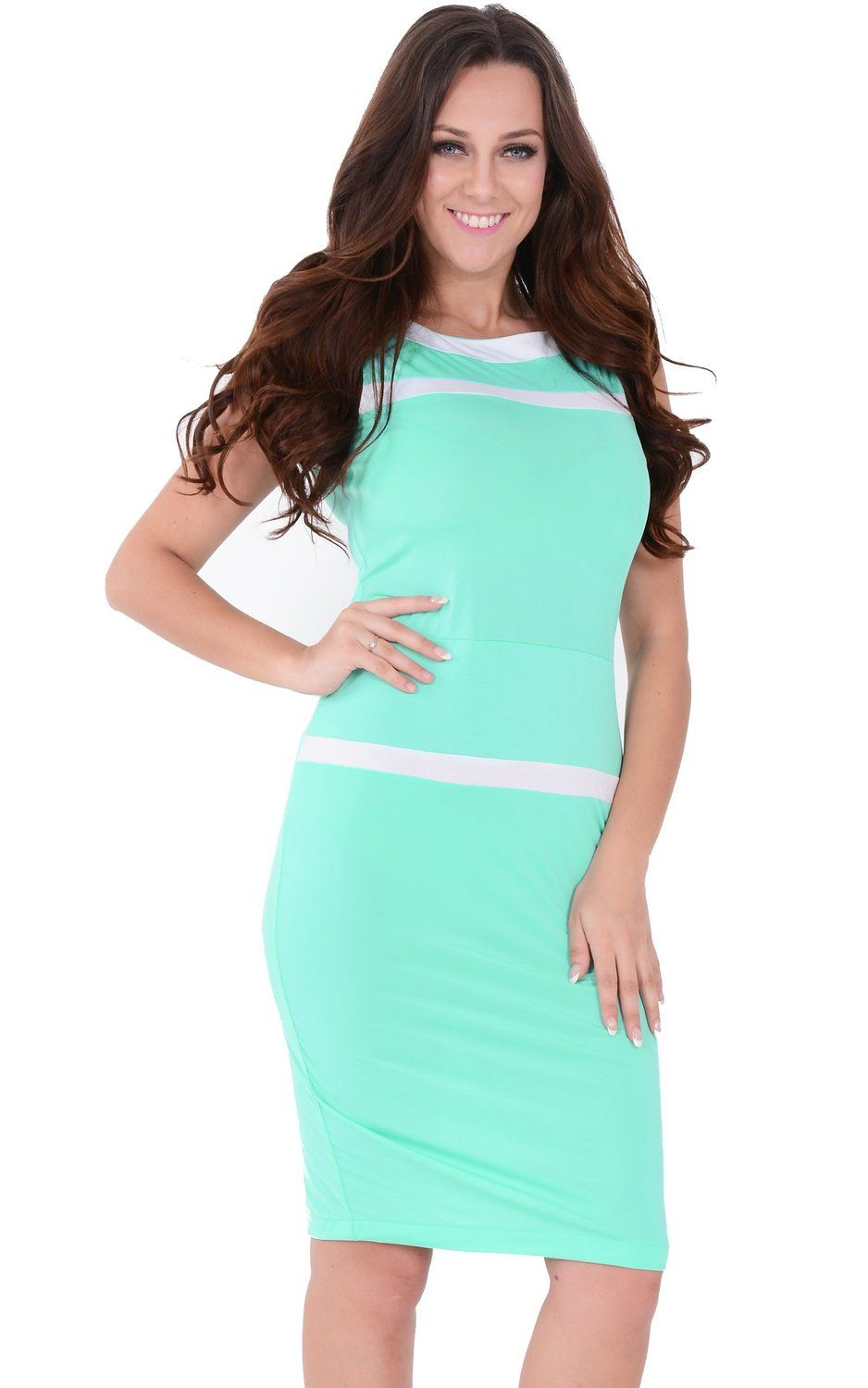 Stylish Green Vintage Bodycon Pencil Dress for Christmas Party ...