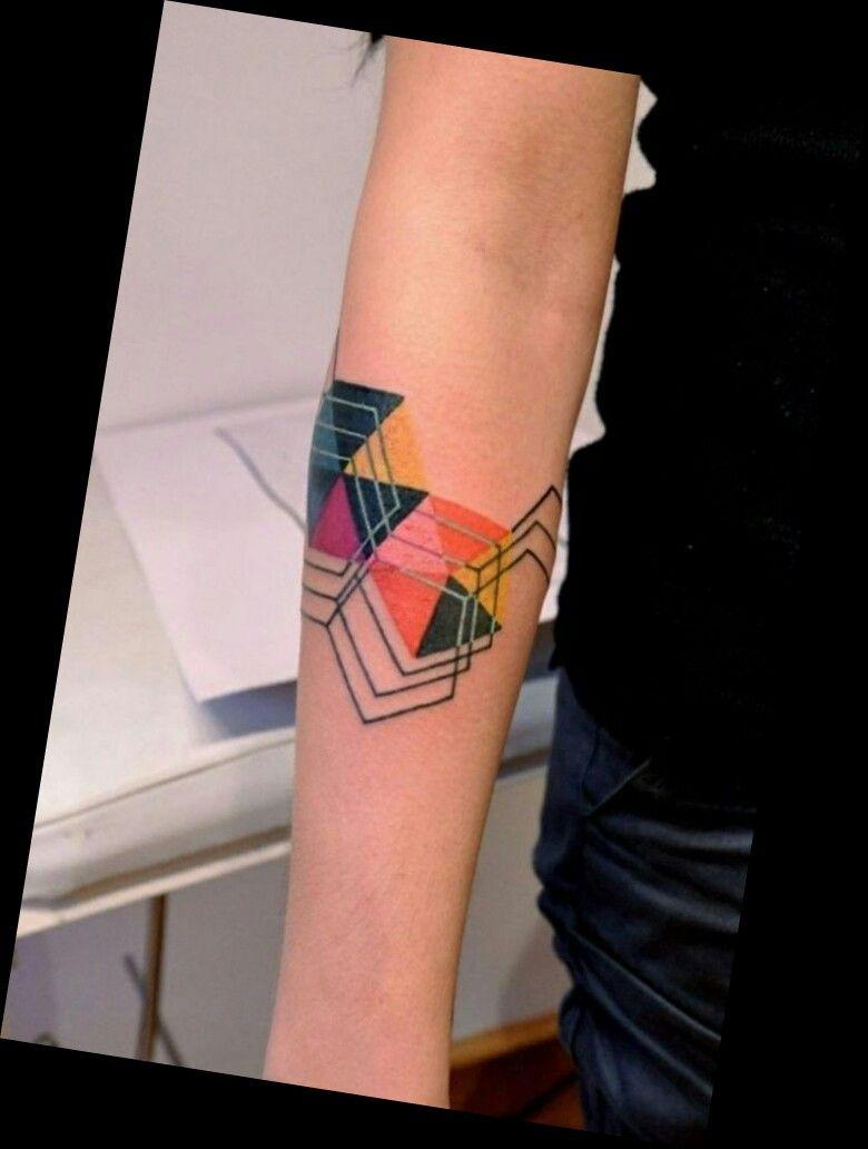 Geometric Color Blocking Tattoo Tattoos Minimal Tattoo Color Tattoo