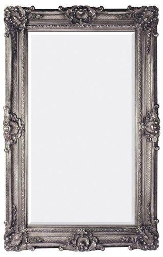 Majestic Mirrors Rectangular European Classic Mirror Silver