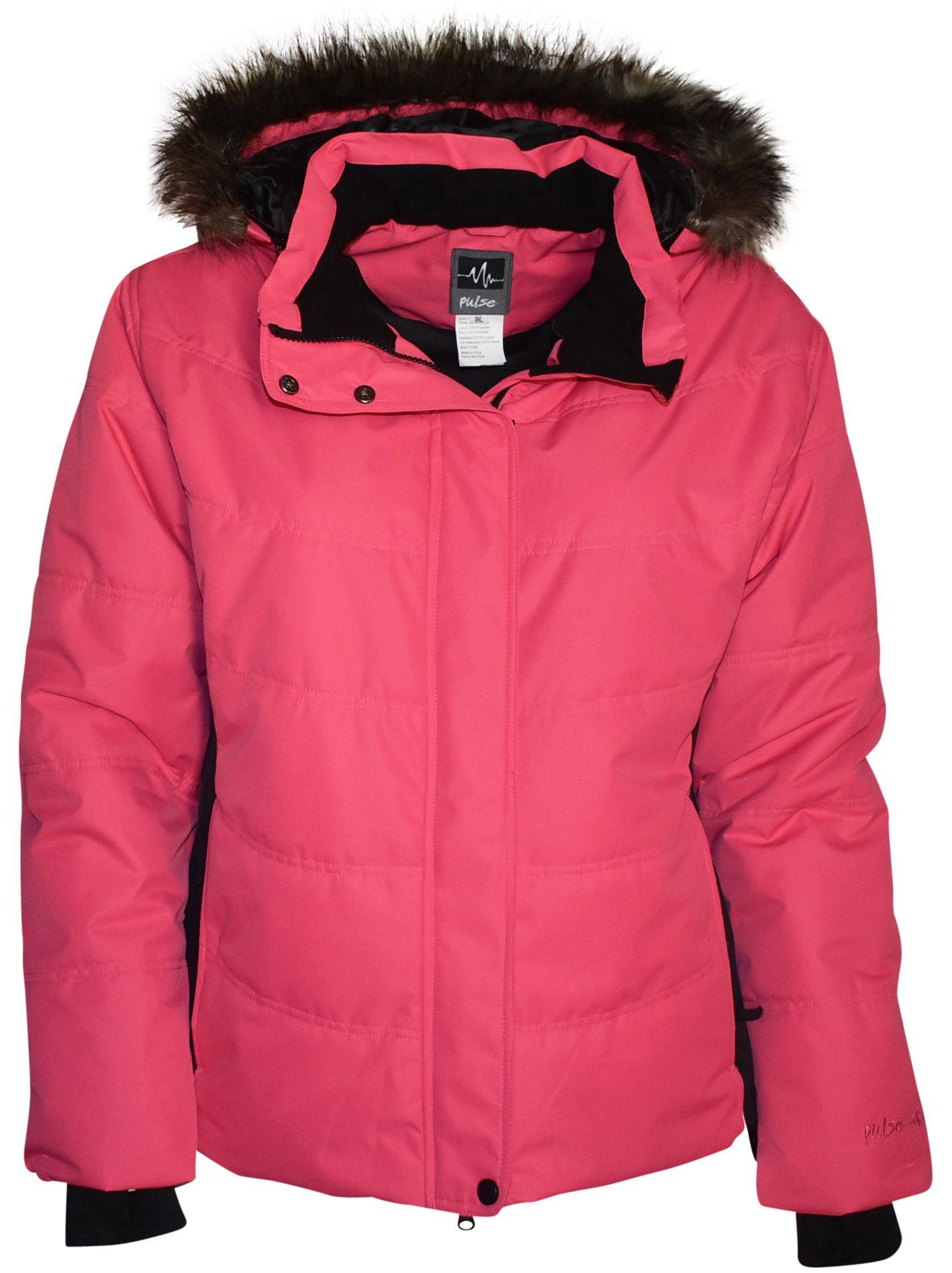 Pulse Women S Plus Size And Extended Plus Size Aspens Calling Jacket Juicy Melon With Black Sides 1x Fits 16 Women Ski Jacket Snow Skirt Winter Coat Warmest [ 1885 x 1410 Pixel ]