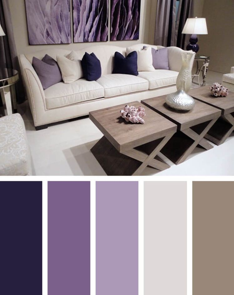 Home Purple Palette Purple Living Room Room Color Design