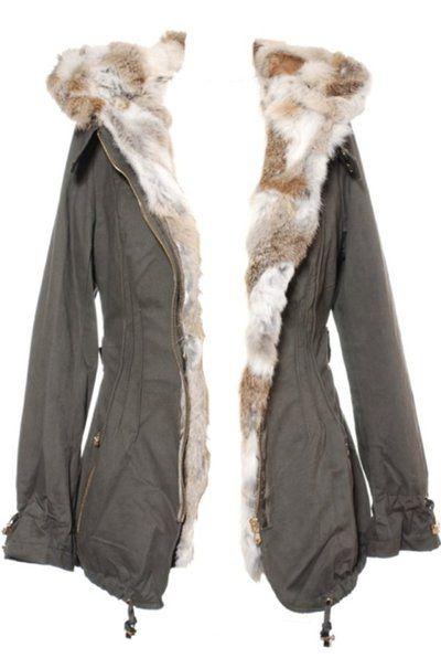 Parka femme hiver noire en fourrure de lapin - On Parle De Vous - Manteau  d hiver à capuche sur cpourl.fr  parka  fourrure  CpourL 672e6b36458