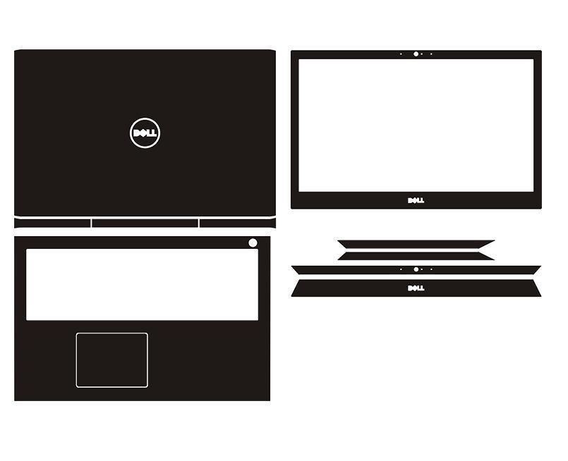 Laptop snake crocodile carbon leather sticker fit dell inspiron 15 7566