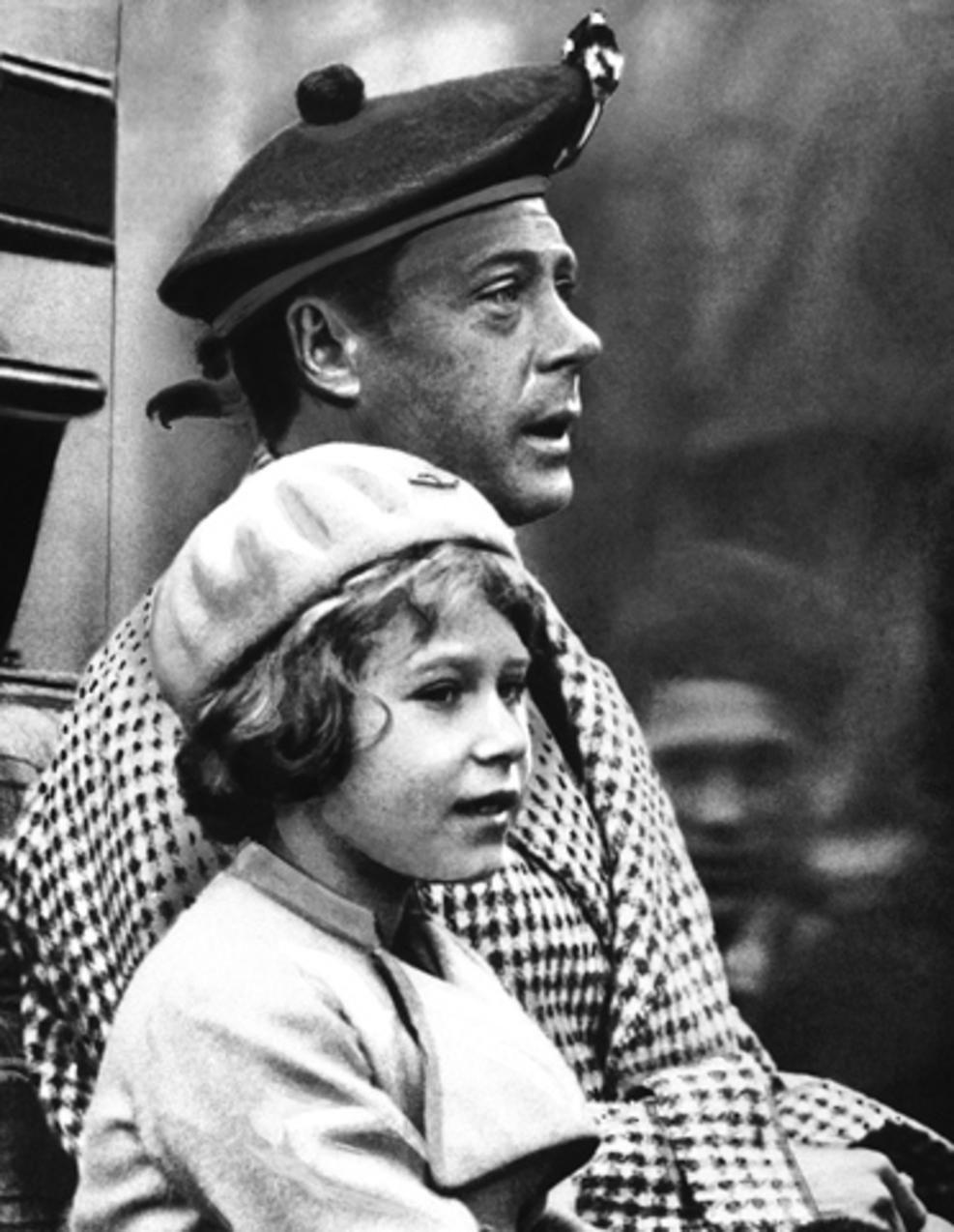 10 yr. old Elizabeth with her uncle King Edward VIII