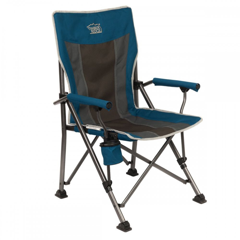 Best Folding Quad Chair Ikea Poang Covers Ireland Timber Ridge Camping Outdoor Sports Heavy Duty With Carry Bag Sporting Goods Hiking Ebay
