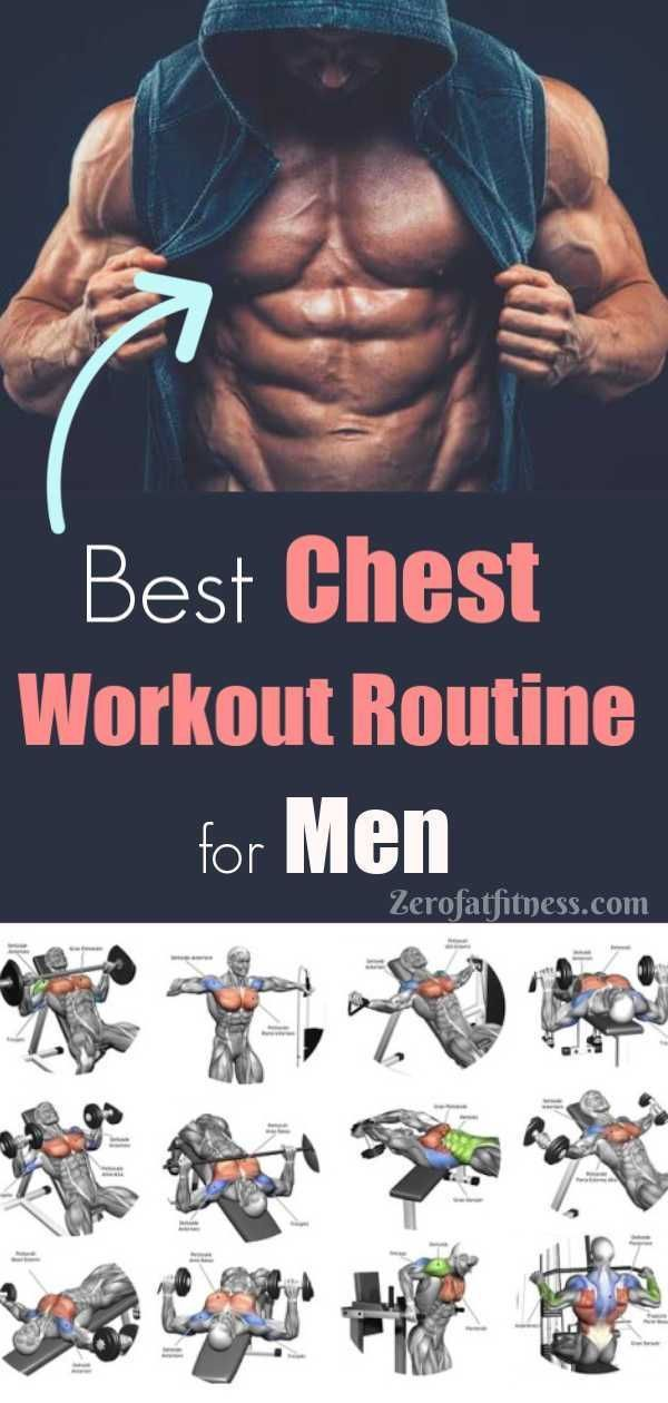 Chest Workout Routine for Men. Best 11 Workouts for Ripped Bigger Chest, Flat abs and Six Pack at Ho...