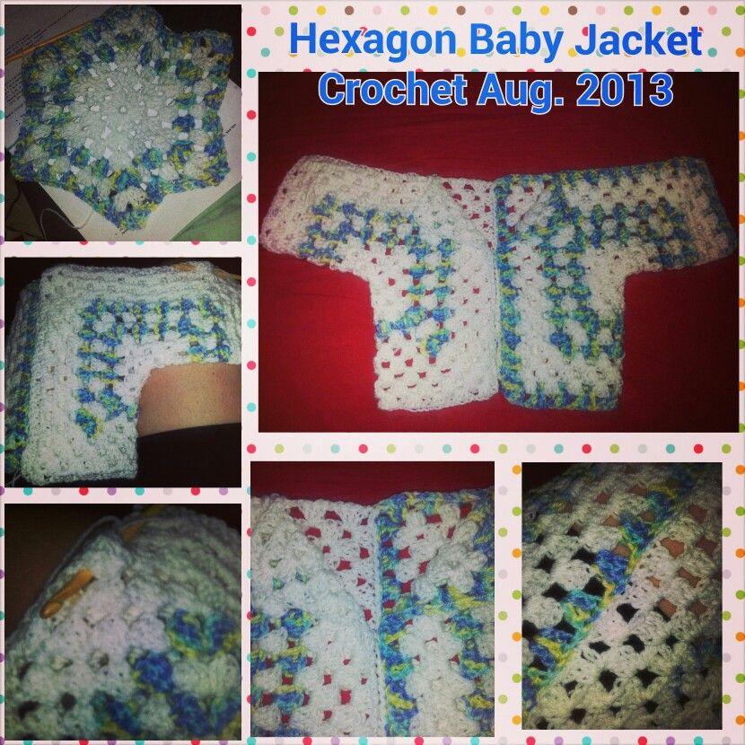 Hexagon Baby Jacket Free crochet pattern at http://m.allfreecrochet ...