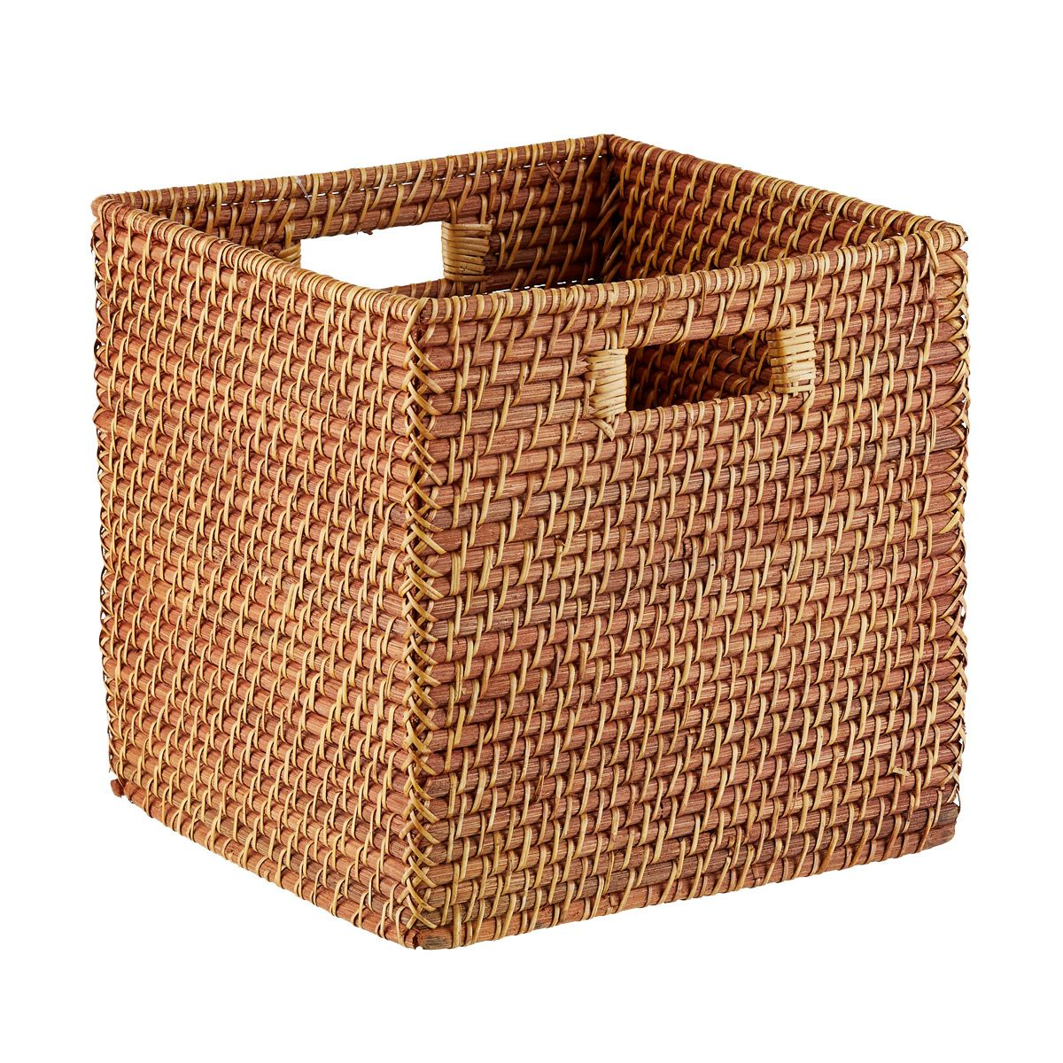 Copper Rattan Storage Cube With Handles Cube Storage Toy Storage Cubes Fabric Storage Cubes