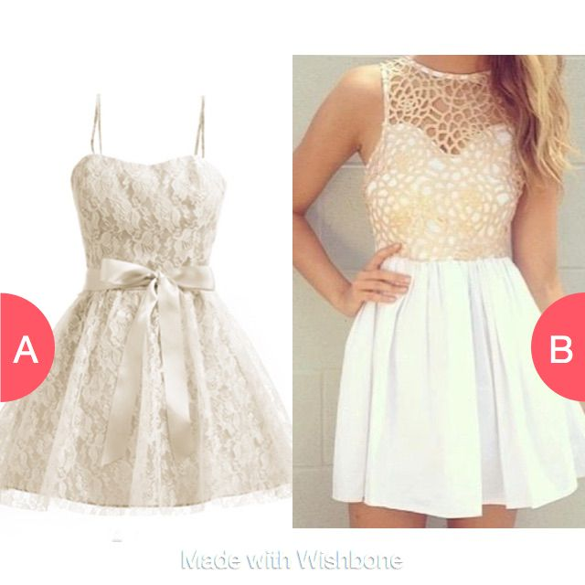 Which white lace dress? Click here to vote @ http://getwishboneapp.com/share/15014756