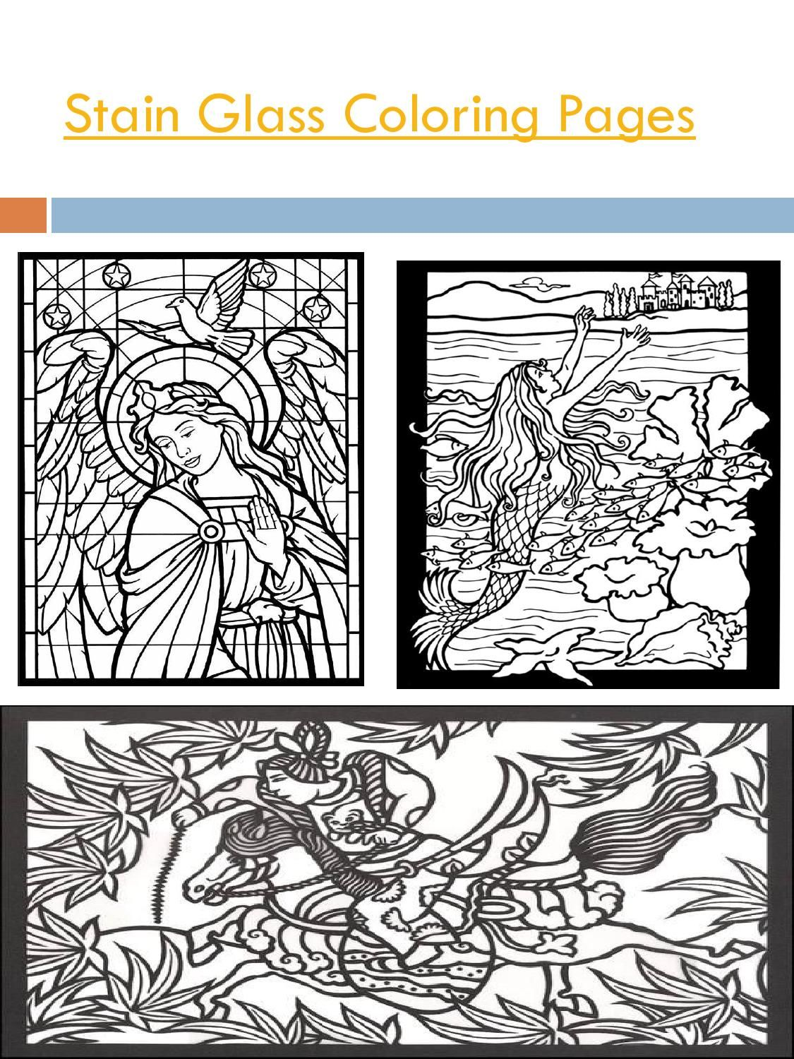 Stain Glass Coloring Pages Creativity Glass And Newspaper