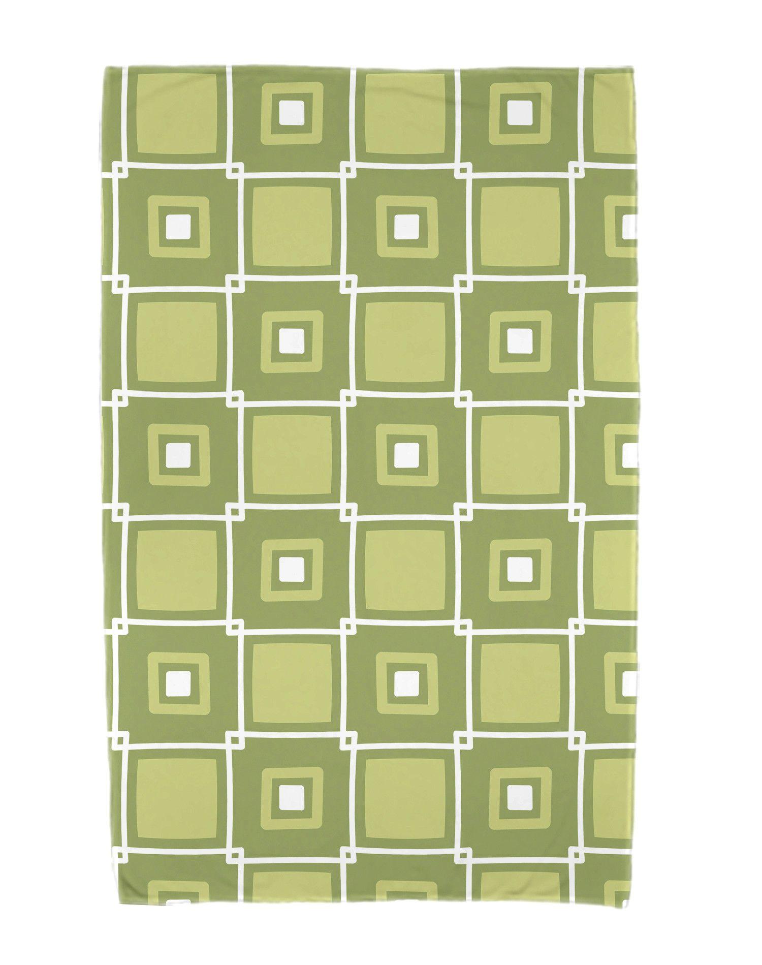 Square Pop Geometric Print Beach Towel