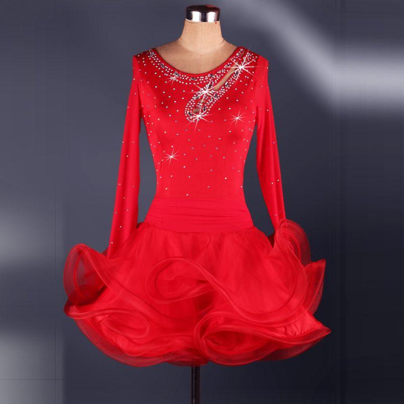 bfbd52e97912f Encontrar Más Salón Información acerca de Rhinestone Adultos Niños Vestidos  de Baile Latino de diamantes Para La Venta Vestidos de Baile Dance  Competition ...