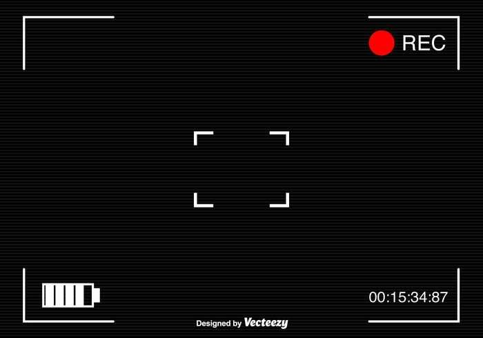 Viewfinder Camcorder Frame Vector A Simple Viewfinder Surveillance Camera Background For Any Project Https Www Welovesolo Com Frame Vector Camcorder