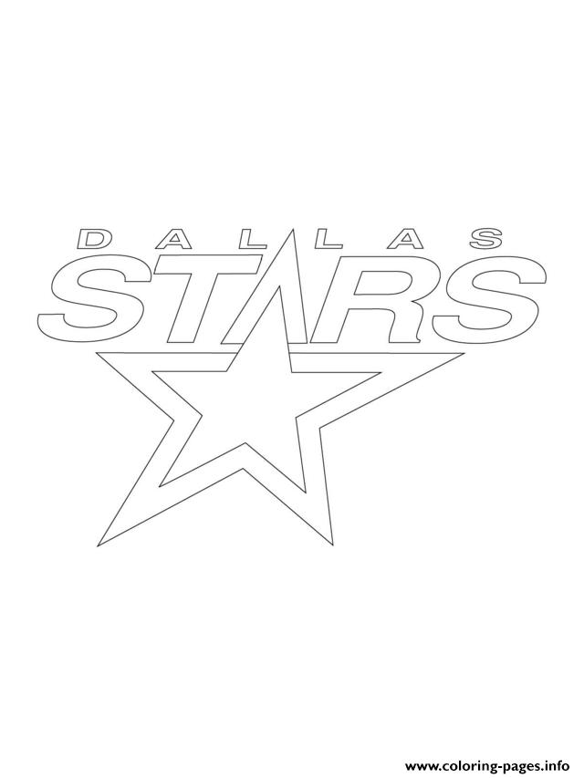 Print dallas stars logo nhl hockey sport coloring pages | app ui ...