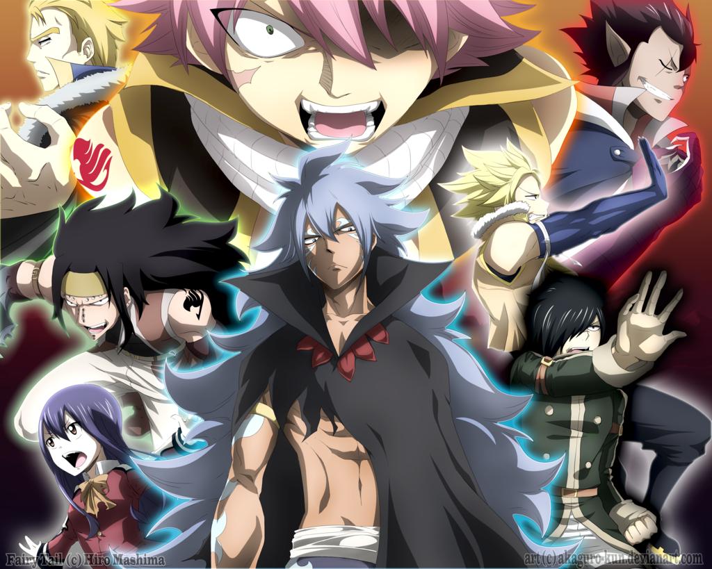 The 7 Dragons Slayers and Acnologia Human by AkaguroKun