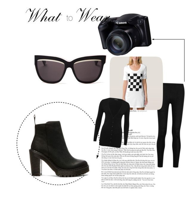 """Out To Make Some Pics"" by elloligirl on Polyvore featuring mode, Donna Karan, Christian Dior, M&Co et Dr. Martens"