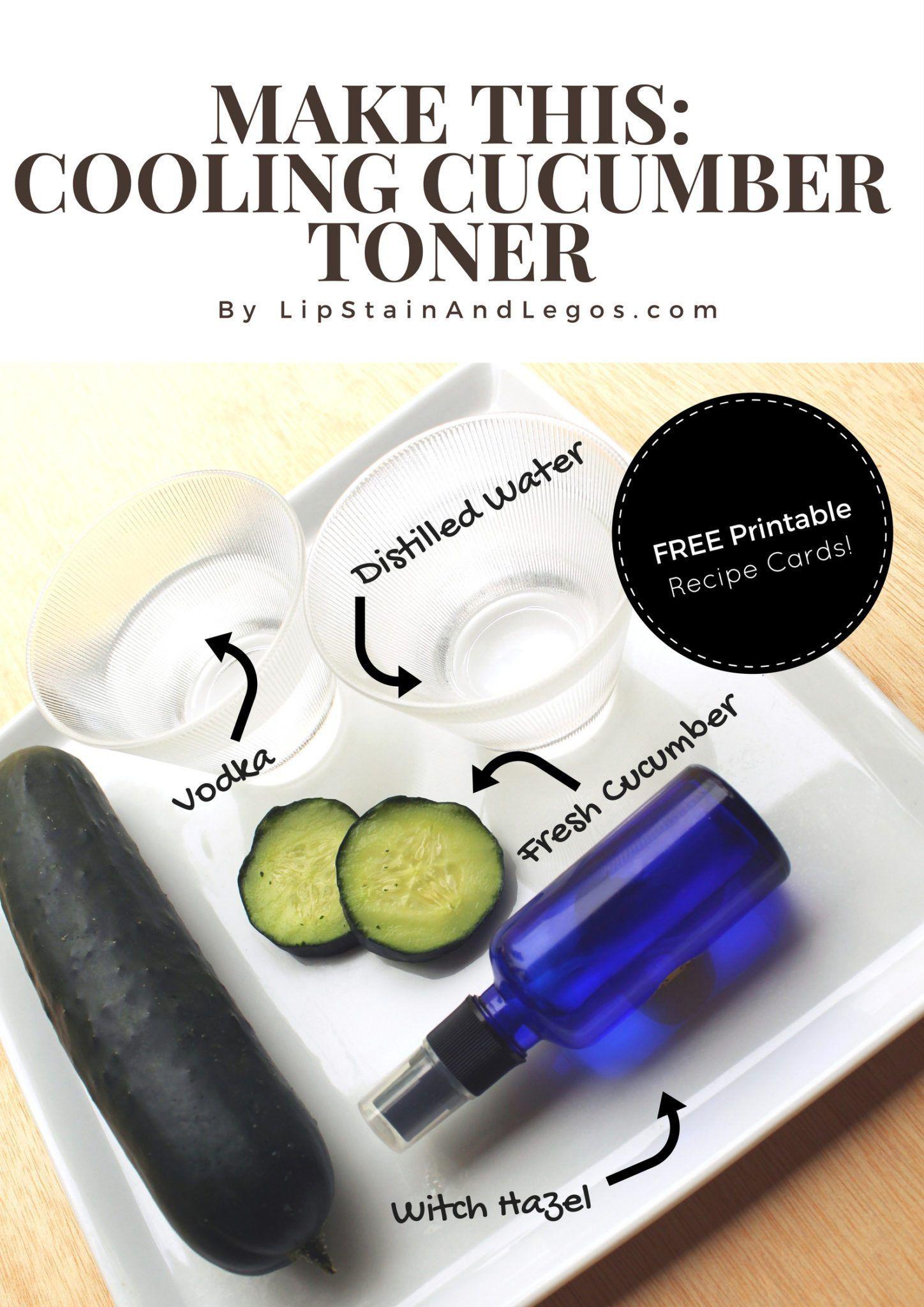 Diy cooling cucumber facial toner facial toner diy