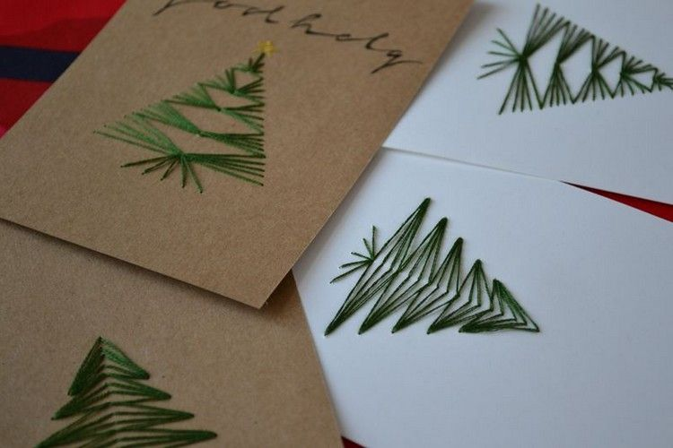 Sticken Mit Kindern Weihnachtskarten Inkl 7