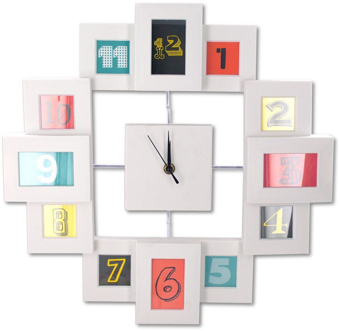 Modern Style Collage Photo Frame Wall Clock - 2 Units | Products ...