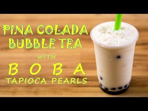 how to make pina colada bubble tea with boba tapioca pearls bubble tea recipe coconut bubble tea recipe bubble tea boba tapioca pearls bubble tea recipe
