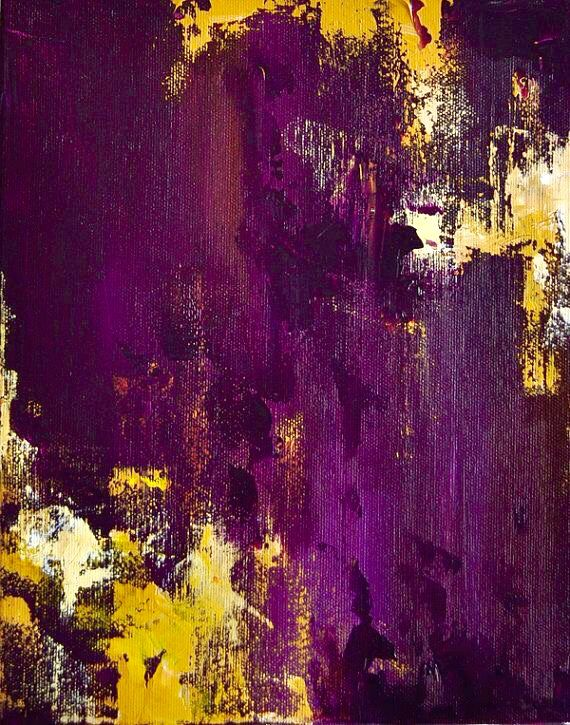 Shades Of Violet And Yellow Purple Painting Purple Art