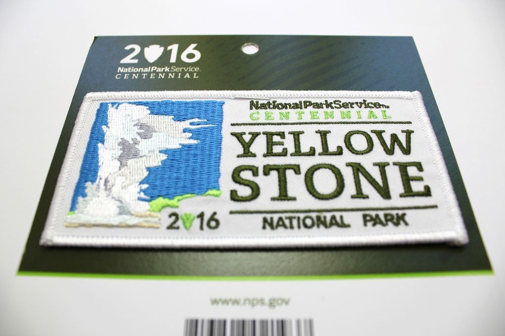 Official Yellowstone National Park Centennial Souvenir Patch 2016 Wyoming gifts