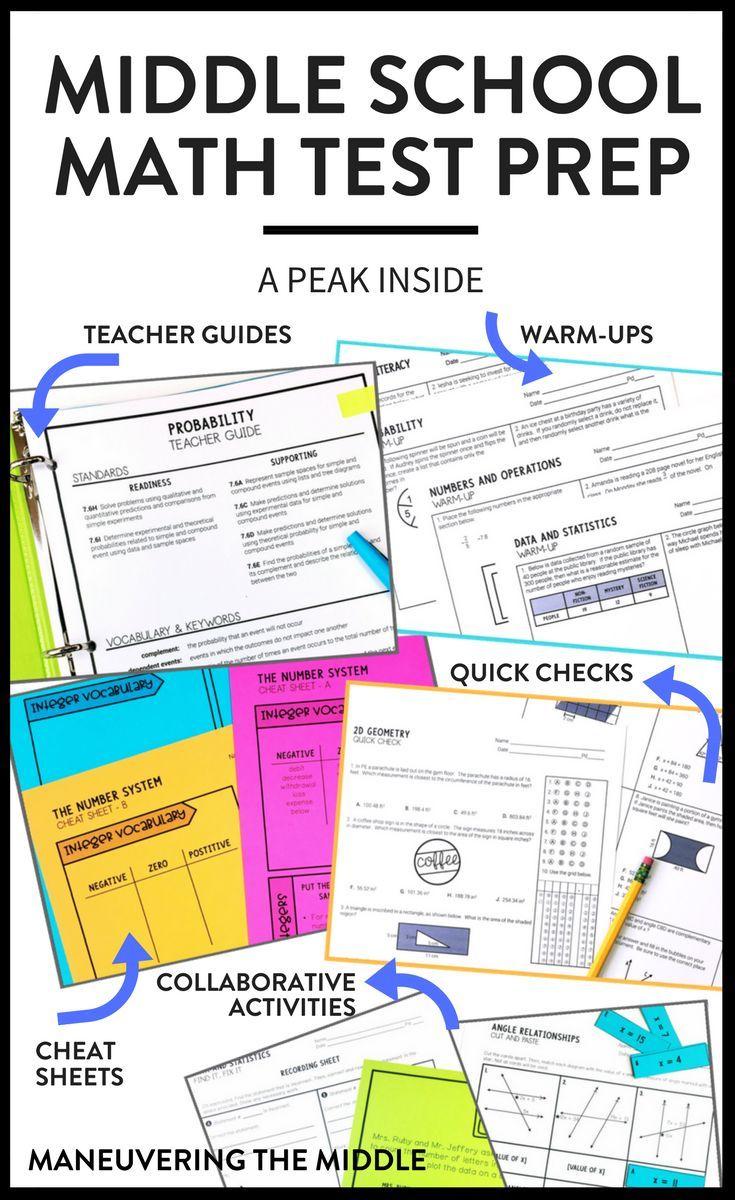 A Peek Inside My Test Prep | Math test, Middle school maths and Math
