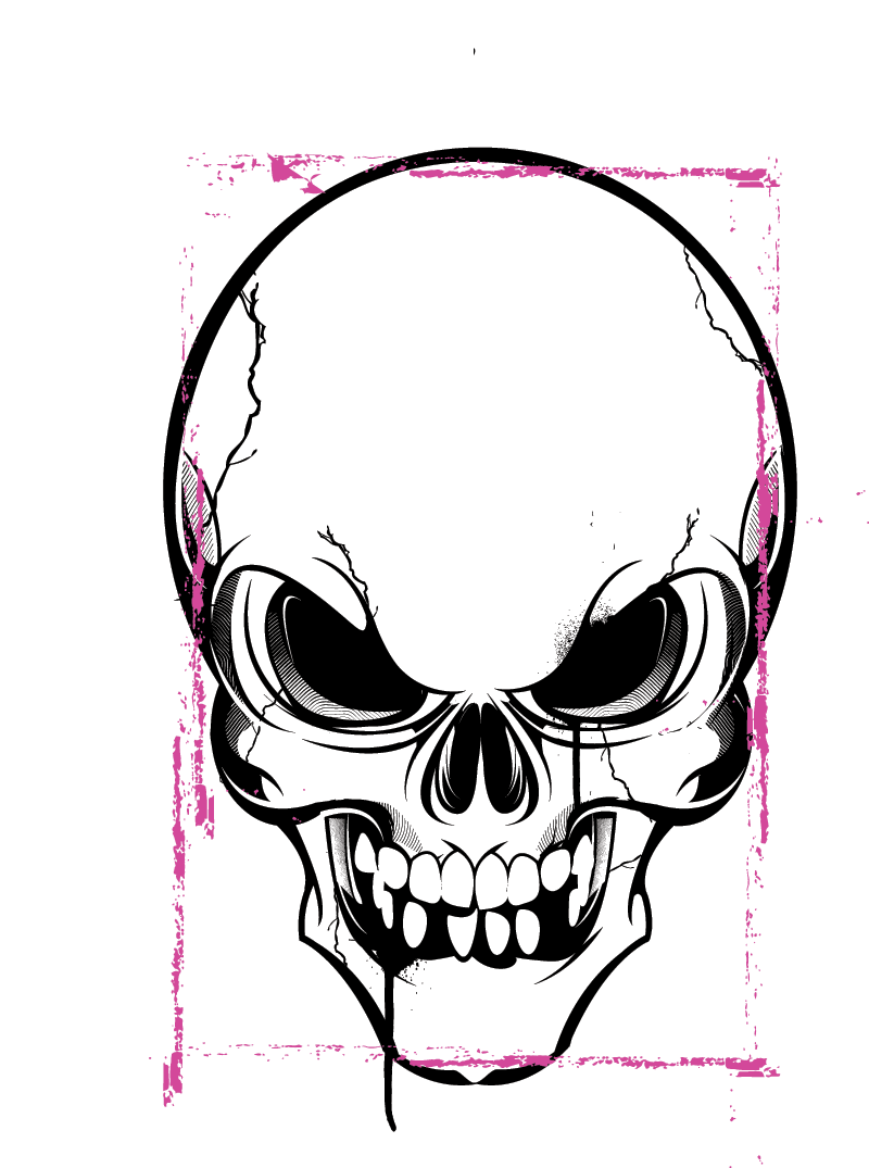 angery skull horror phreek skulls pinterest rh pinterest co uk skull artwork vector skull vector images