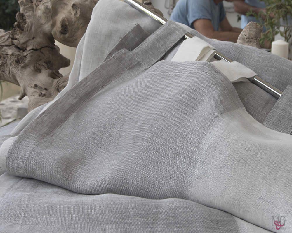 Camera A Righe Verticali : Tende camera da letto polvere di luna righe verticali puro lino