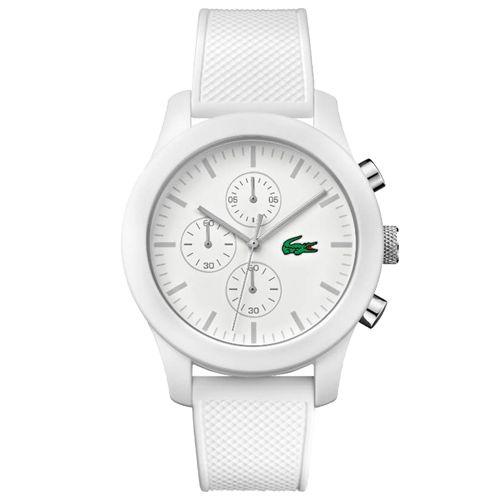 c66d78642e138 Relógio Lacoste Masculino Borracha Branca - 2010823   Comprar ...
