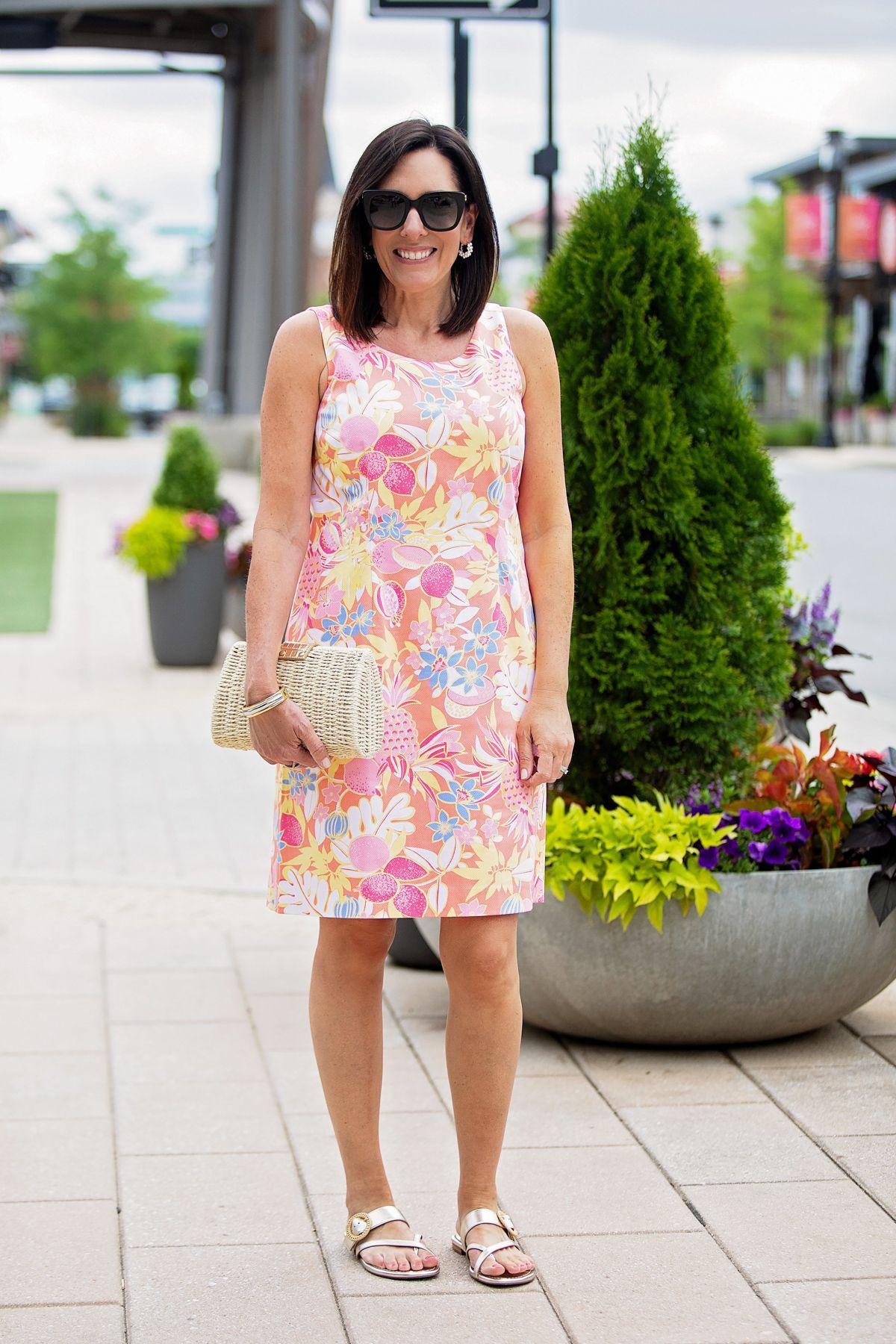 Fruit Flowers Shift Dress For Summer Summer Shift Dress Shift Dress Summer Dresses [ 1800 x 1200 Pixel ]