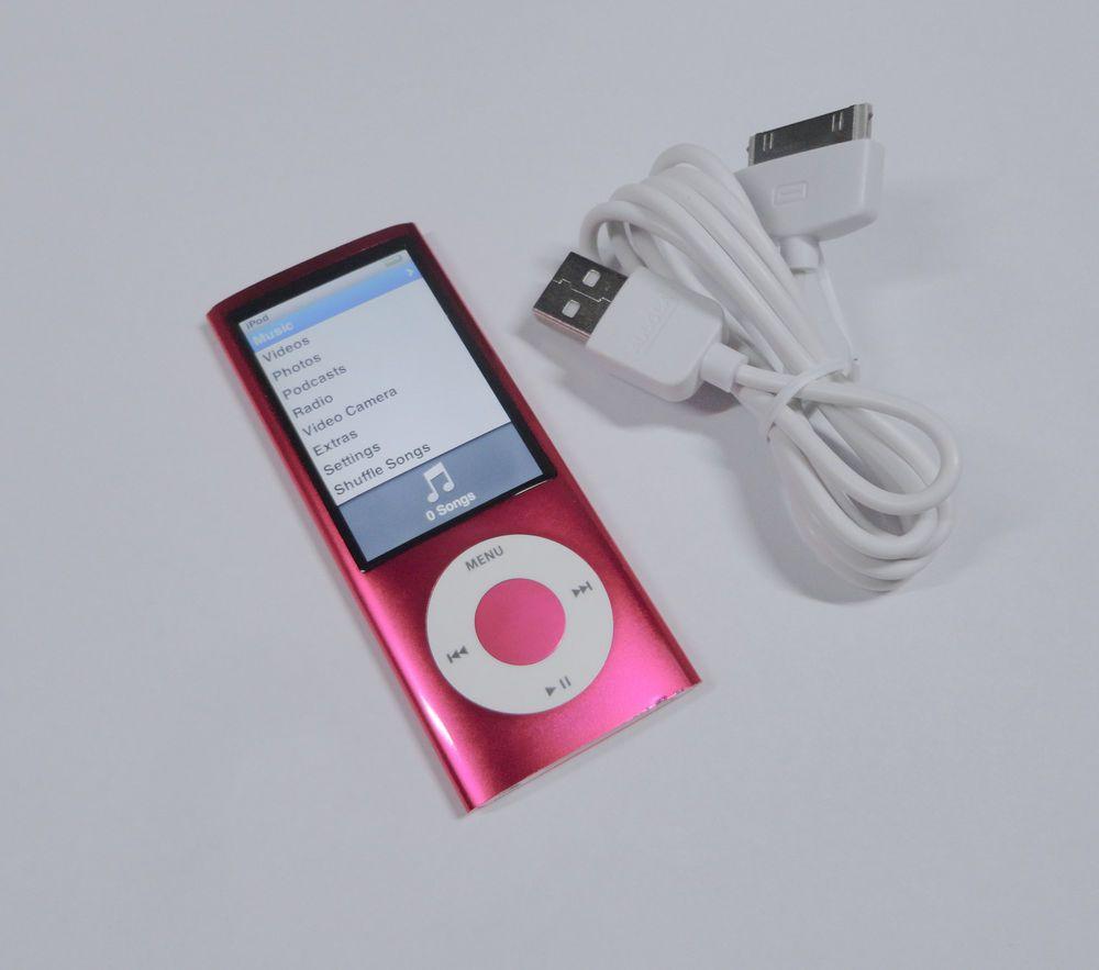 Apple iPod Nano 8GB 5th Gen Generation Pink GUARANTEE