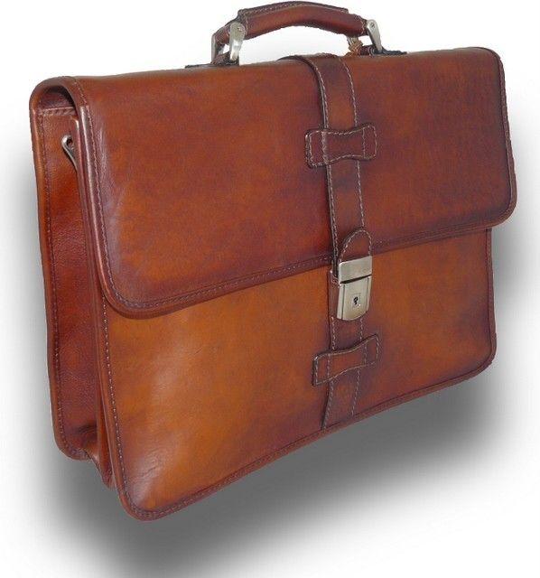 Laptop Bag 4545BU-BLACK Men/'s Leather Briefcase Leather Bag Leather Messenger Bag Leather Briefcase Floto Novella Top Handle Bag