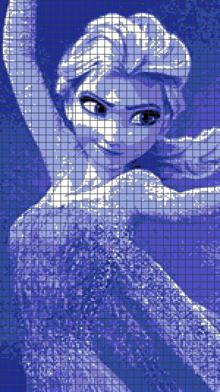 Frozen - Elsa (Chart/Graph AND Row-by-Row Written Instructions) - 02 ...