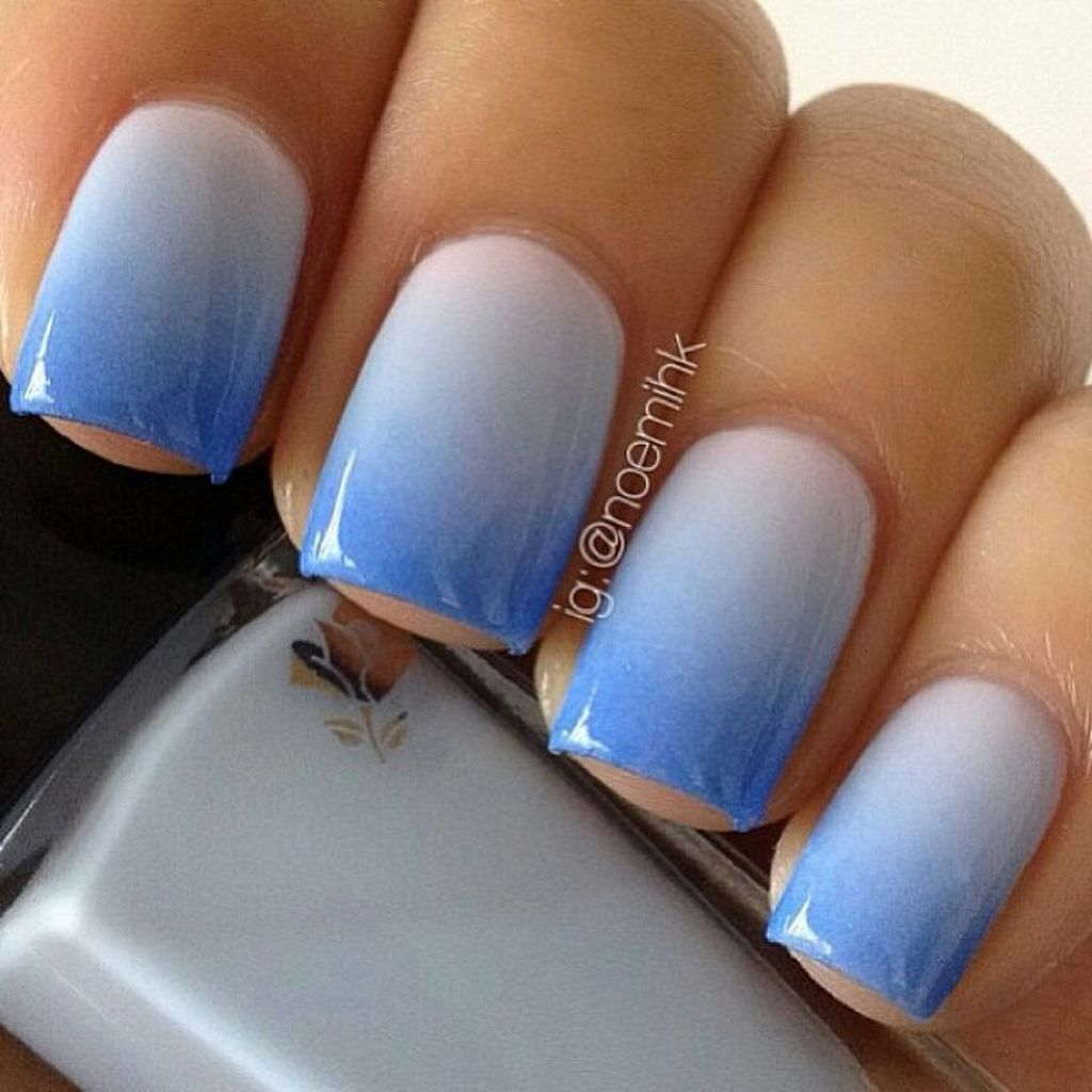 Blue glitter ombr 233 stiletto nails - 90 Best Ideas About Ombre Nails Art Design