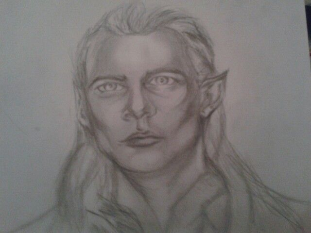Legolas quick sketch  Lotr fan art Elf Thranduils son