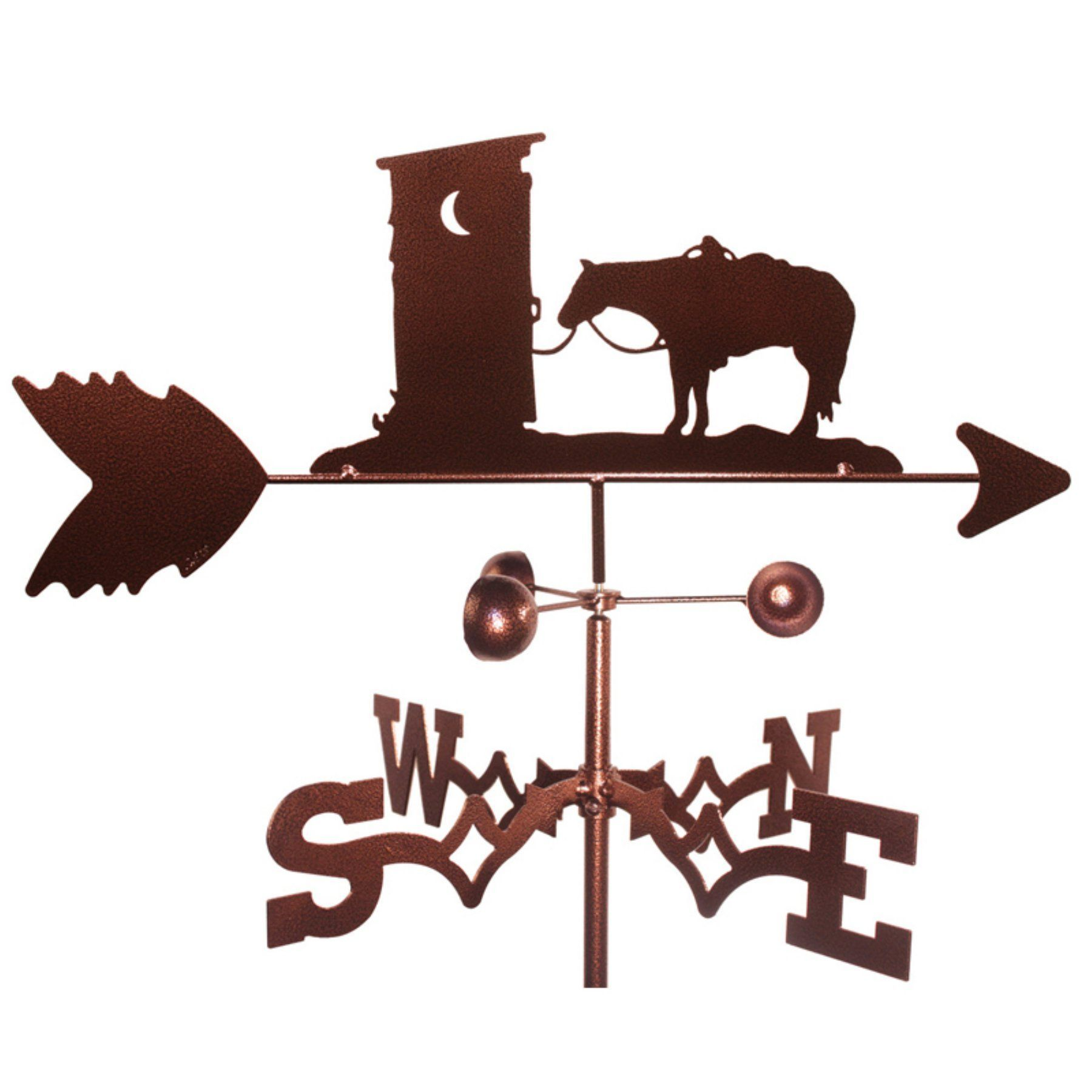SWEN Products OUTHOUSE COWBOY HORSE Steel Weathervane