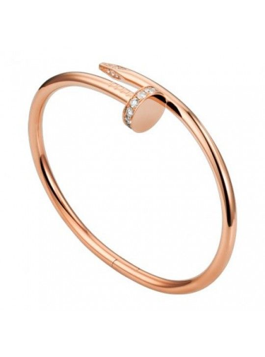 32d54190986fe6 Cartier Juste Un Clou Nail Bracelet Fake Plated Real Pink Gold Set With  Diamonds B6039017