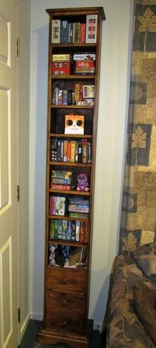 Great idea for small games and small spaces. Would fit next to the bed.