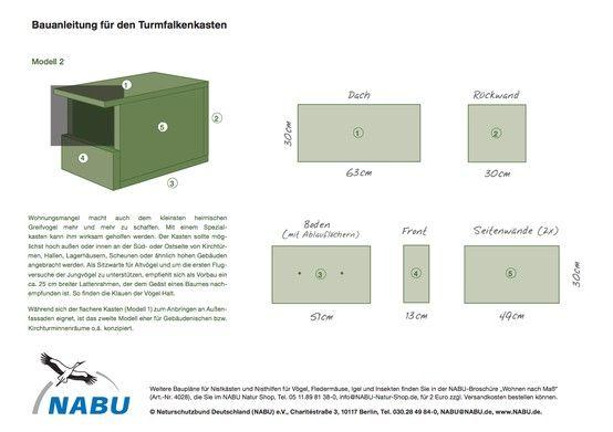 nabu bauanleitung f r einen turmfalkenkasten die nisthilfe f r turmfalken sollte m glichst hoch. Black Bedroom Furniture Sets. Home Design Ideas