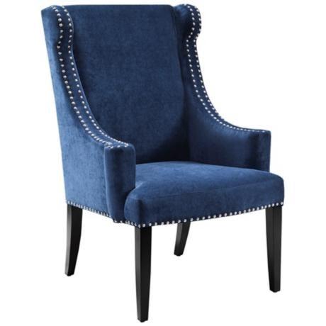 Best Marcel Elizabeth Royal Blue Armchair 3N204 Lampsplus 400 x 300