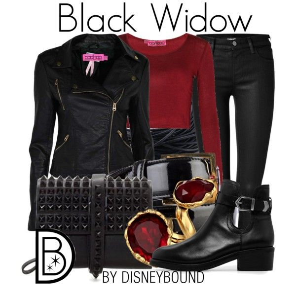 A fashion look from September 2014 featuring long sleeve tops, fake leather jacket and slim jeans. Browse and shop related looks.