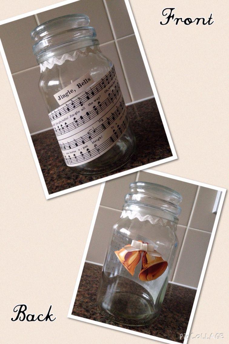 Jingle Bells Biscuit/Sweet Glass Jar.